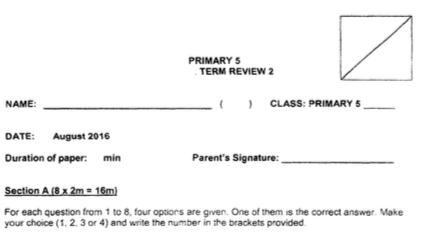 SmartGuppy   P5 Maths CA2 2016 Henry Park Exam Papers