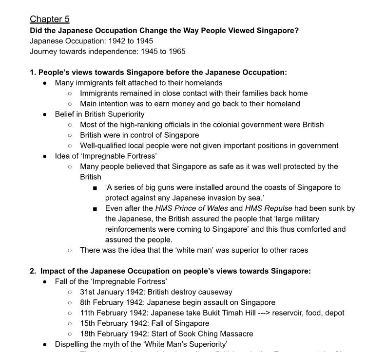 SmartGuppy | Secondary 2 History Chapter 5 to 8 notes